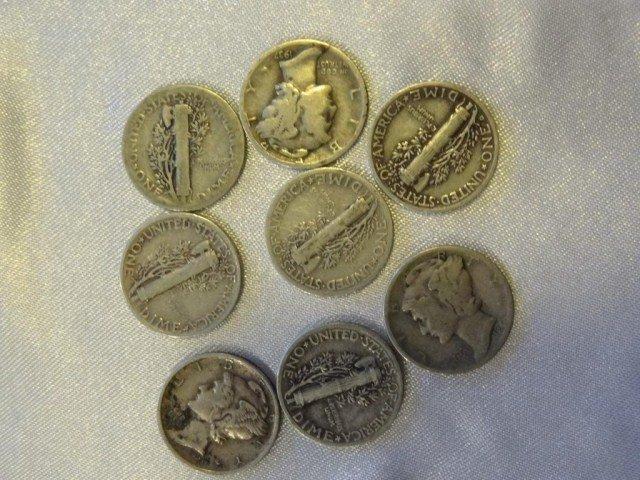 11: Mercury Dimes:  8