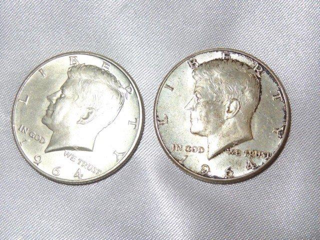17: Kennedy Half Dollars:  1964 (2)