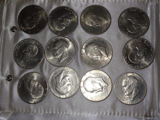 19: Eisenhower Dollars:  1976 (12)