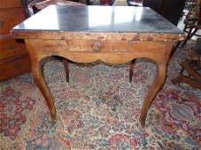 18th C. French Provincial Fruitwood Desk Marble