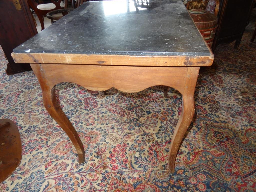 18th C. French Provincial Fruitwood Desk Marble - 6