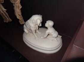 "Parian Ware Sculpture ""Can't You Talk"" RJ Morris"