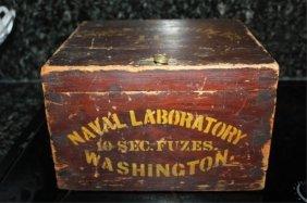 Civil War Naval Laboratory 10 Second Fuzes Box