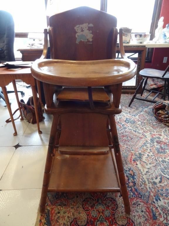 Thompson Vintage Wood High Chair