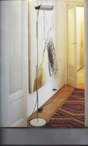Joe Colombo: Colombo 626 Black Floor Lamp