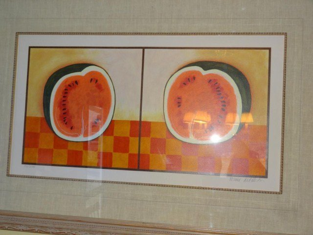 """Tomie dePaola """"Watermellon Diptych""""  53/200"""
