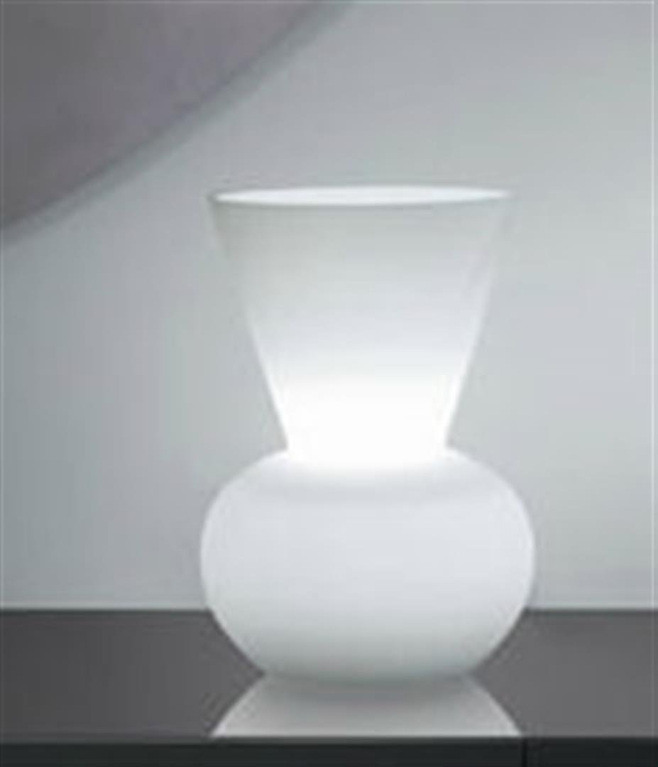 Alfonso Fontal: Bianca 10 White Table Lamp
