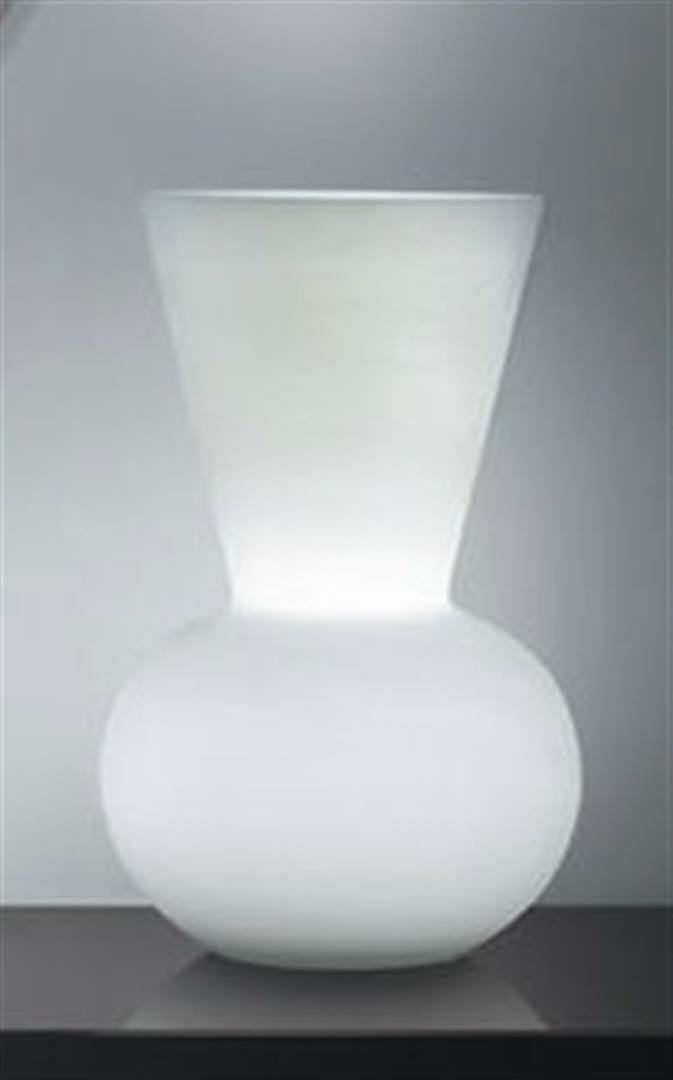 Alfonso Fontal: Bianca 30 White Table Lamp