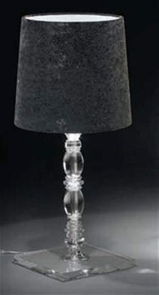 Alfonso Fontal: Claudia 30 Black Table Lamp