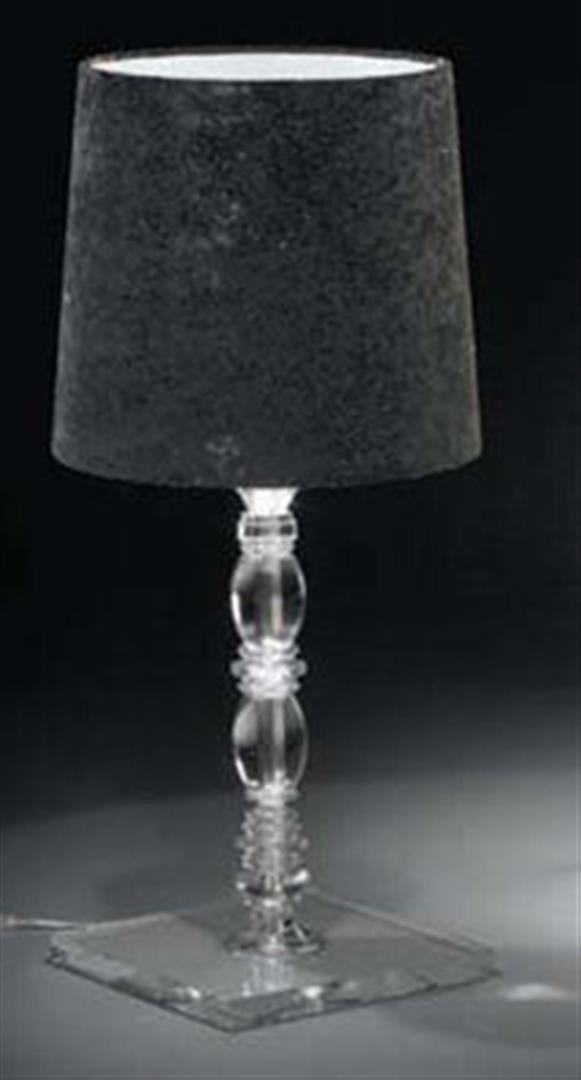 Alfonso Fontal: Claudia 30 Black Table Lamp