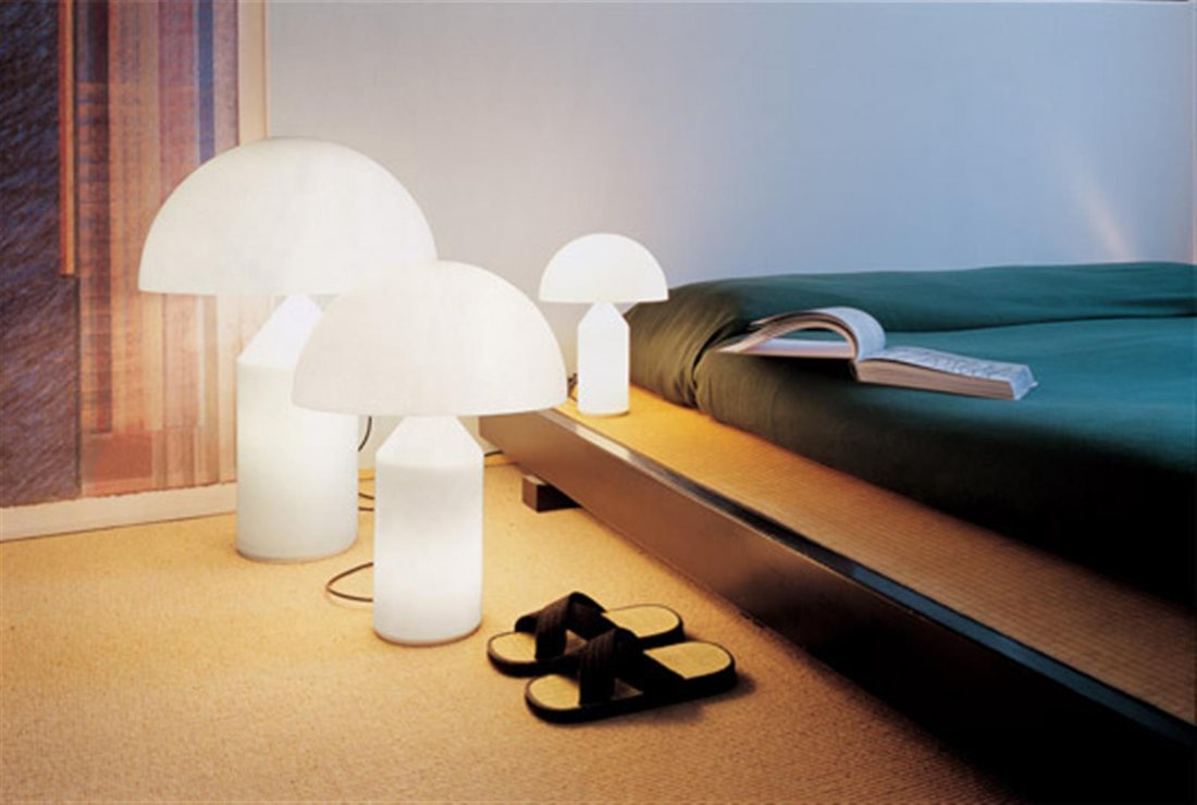Vico Magistretti : Atollo 236 Opal Table Lamp