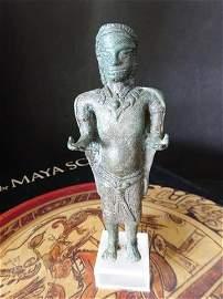 Rare Standing  Adorned Buddha Figure 13C  Antiquity