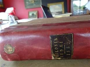 """16th C. Adrianus Turnebus """"Philo Judaeus"""" Antiquarian"""