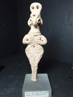 Terracotta Idol Figurine N. Syria, 2000 BC