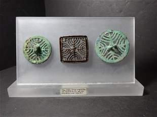 Three Afghan Bronze Ornaments 2300-1600 BC