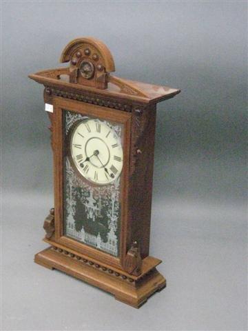 1003: Clock, Seth Thomas, Mantel Type, Late 19th Centur