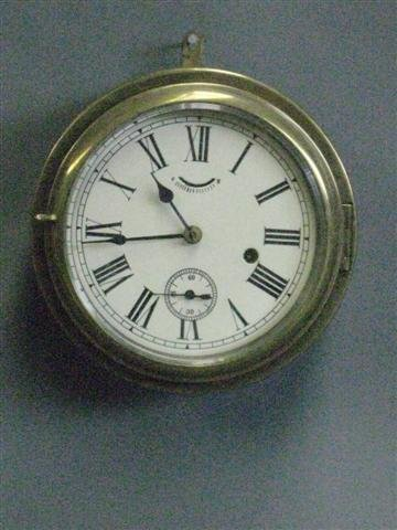 1013: Clock, Believed to be Naval Ship Boiler Room Cloc
