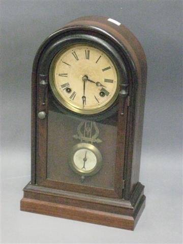 1014: Clock, Late 19th Century, Rosewood, Time and Stri