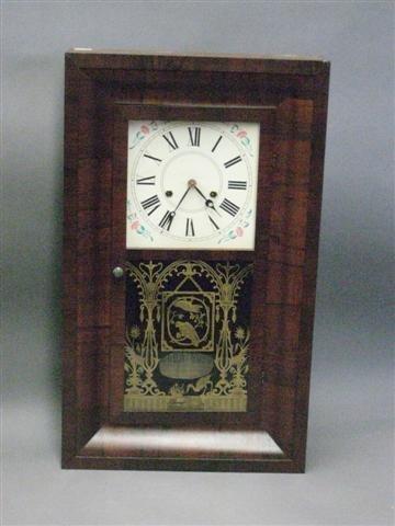 1018: Clock, OG Type, Rosewood Case, 30 Hour, Label of