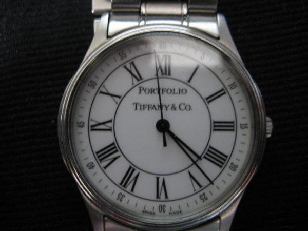 70: Wrist Watch, Man's, Tiffany & Co. Portfolio, Stainl
