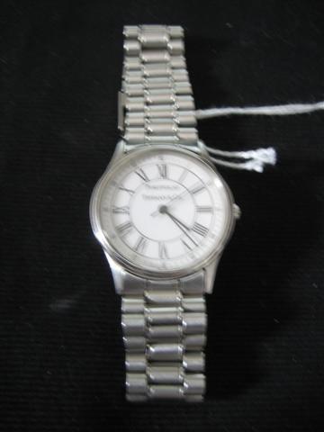 70: Wrist Watch, Man's, Tiffany & Co. Portfolio, Stainl - 2