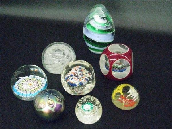 1: Paperweights, Glass, 8, Good Cond., $100-$200