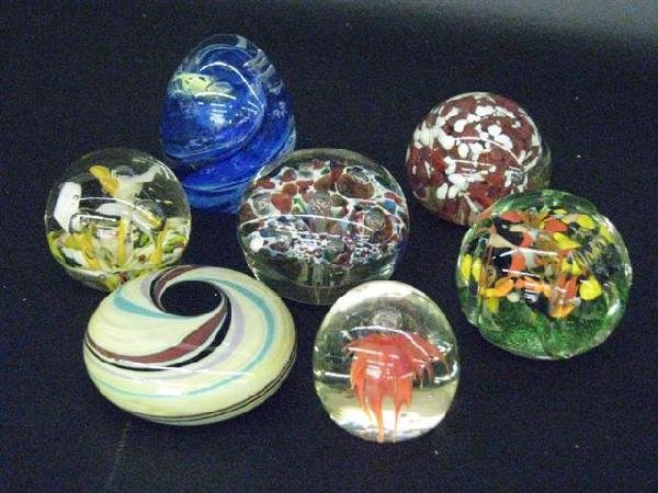 2: Paperweights, Glass, 7, Good Cond., $100-$200