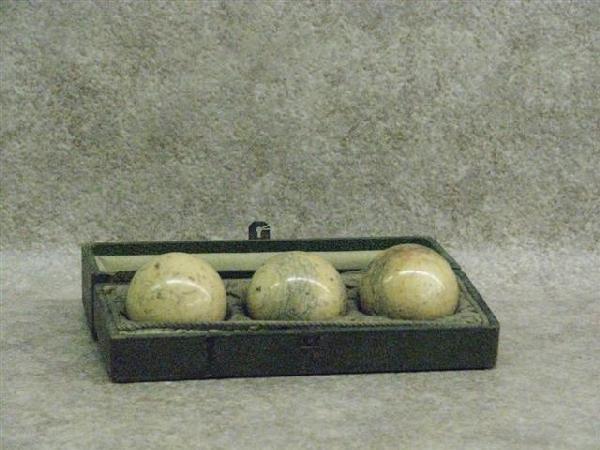 10: Billiard Ball Set, Antique, 3 Genuine Ivory Balls (
