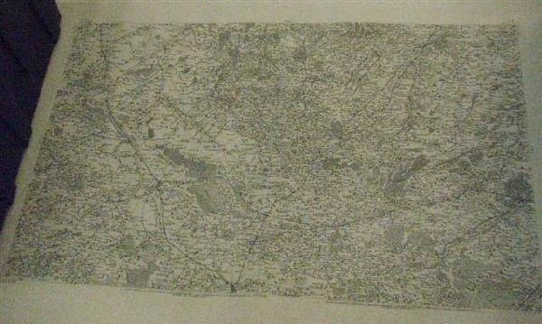 14: French Map of Normandy, 20th Century Engraving on A