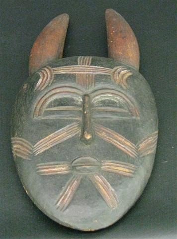 21: Guro Animal Mask, Stylized Wild Boar, Carved and De
