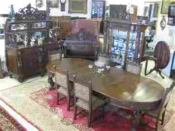 326: Dining Set, Attributed to R.J. Horner, Incl. Table