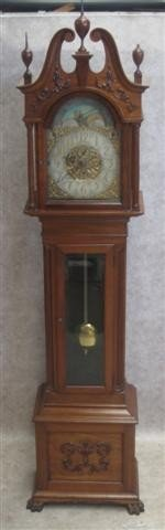 337: Clock, Tall Case, Early 20th Century, Dial Signed
