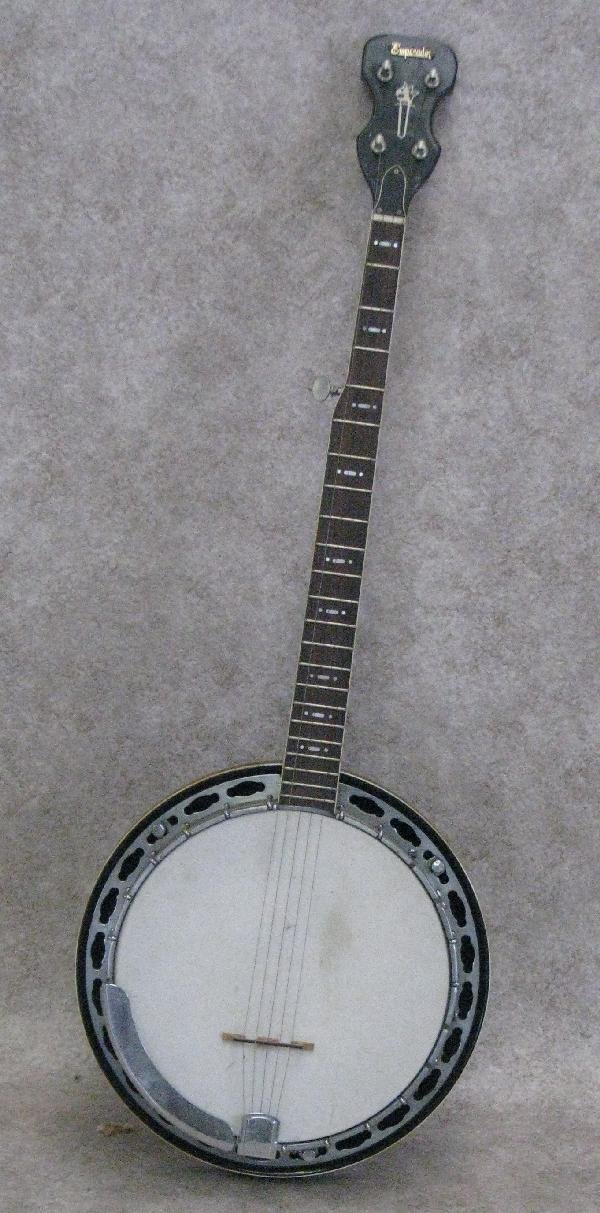 1: Banjo, by Emperador, Rosewood Neck with Mother-of-Pe
