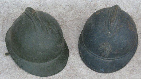 8: Helmets, 2, English, Steel, (A) Flaming Bomb Crest w