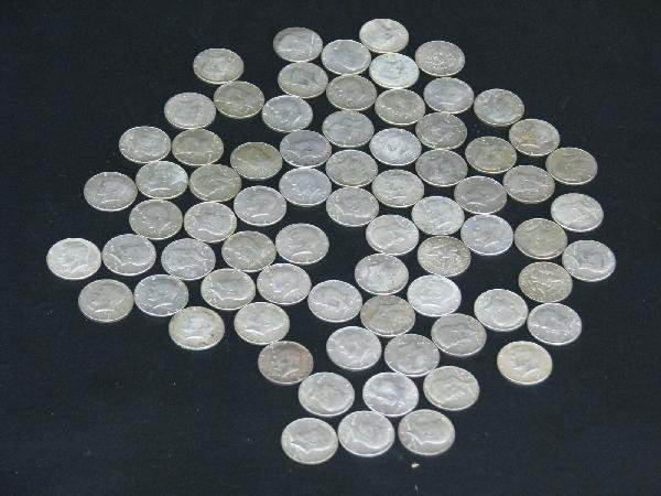 19: Coins, Kennedy Half Dollars, Approx. 73, Dates Rang
