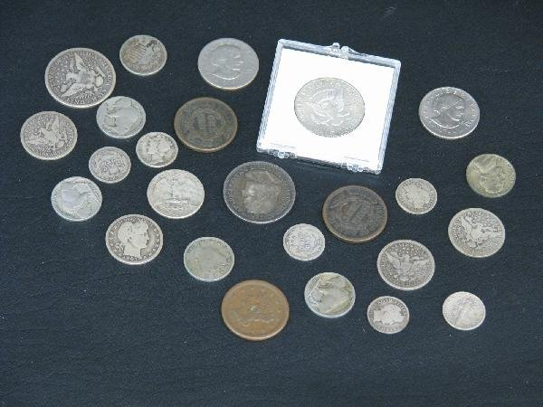 21: Coins, U.S., Estate Lot, Approx. 25, Incl. Various