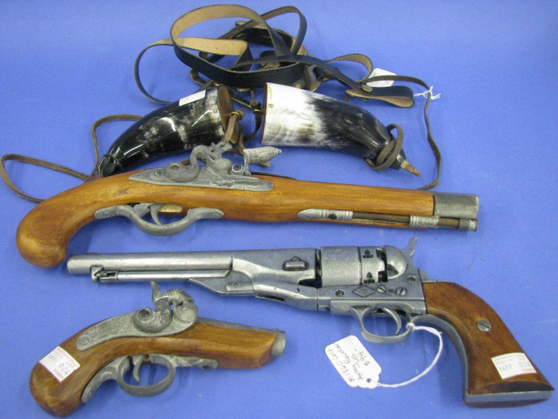 48: Pistols, Non-Firing Replicas (3) and Accoutrements
