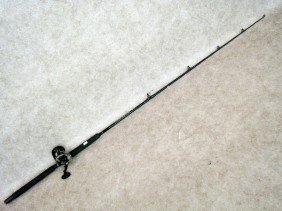 53: Fishing Gear, Graphite Rod with Reel