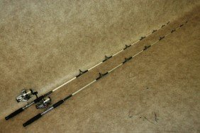 59: Fishing Gear, Rod (2) and Reels (2)