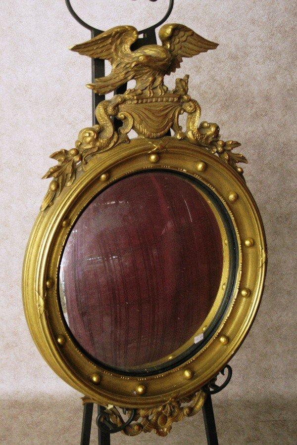 206: Convex Mirror, Eagle & Dolphin Decoration