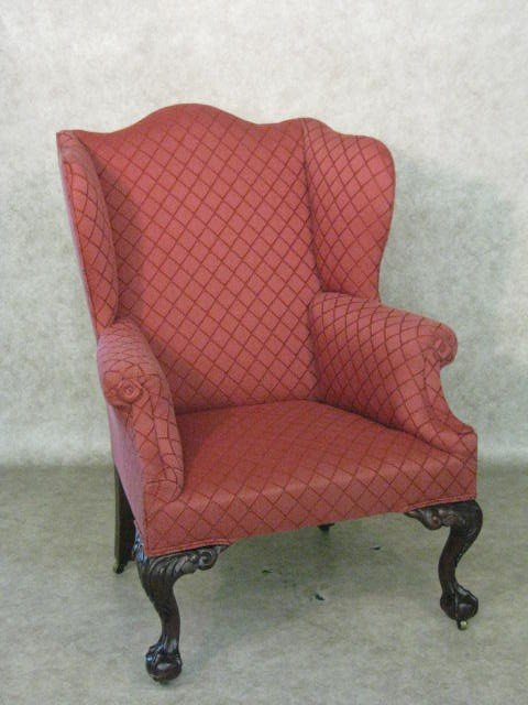210: Easy Chair, Chippendale Style
