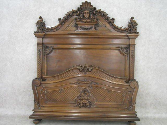 219: Bed, Italian Renaissance Revival