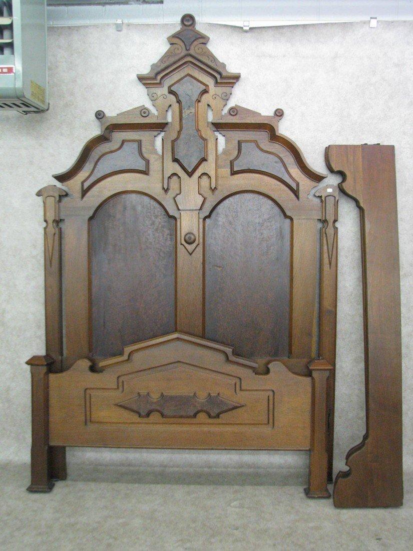 226: Bed, Victorian, Renaissance Revival, Walnut