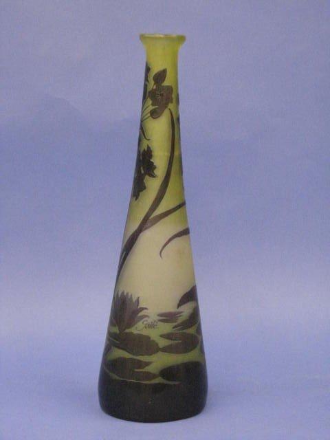 """229: Exquisite Signed ''Galle"""" Vase"""