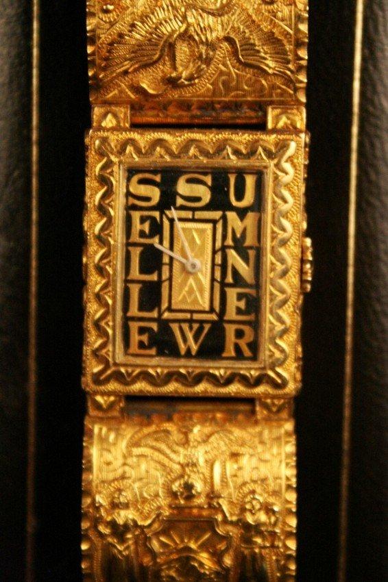 256: Sumner Welles Presentation Watch, 18K, Mexico 1941
