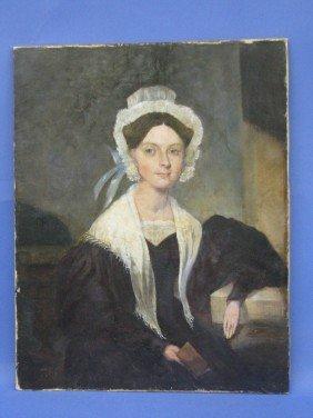 376: Oil on Canvas, Lady's Portrait, Cleydael Plant.