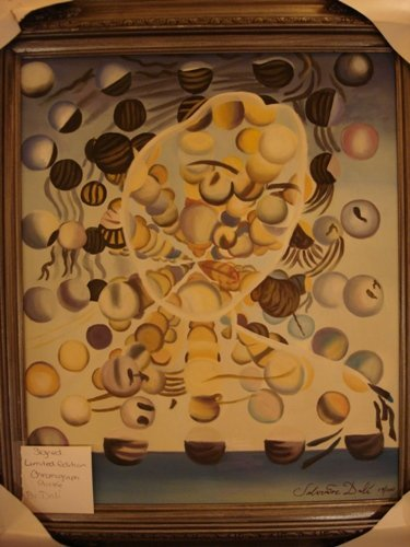307: Dali Signed Limited Edition Oil on Canvas