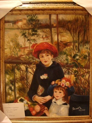 309: Renoir Signed Limited Edition Oil on Canvas