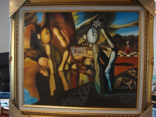 313: Dali Signed Limited Edition Oil on Canvas