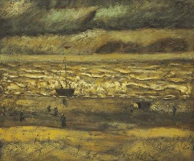 "2: ""Beach at Scheveningen in Stormy Weather"" Van Gogh"